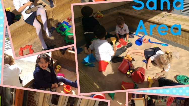 Reception love the new sand area!