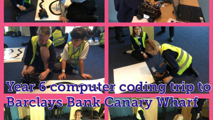 Year 6 Computer Coding Trip to Barclays Bank, Canary Wharf