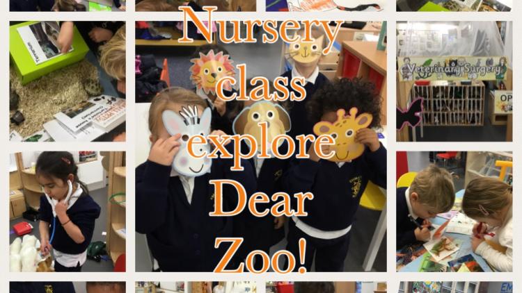 Nursery Class has fun exploring lots of 'Dear Zoo' activities!