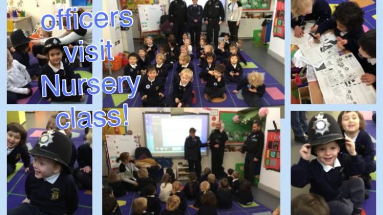 Camden Police Safer Neighbourhoods Team visit Nursery class!