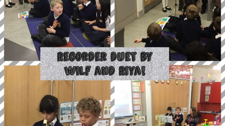 Recorder Duet in 2G by Riya and Wilf!