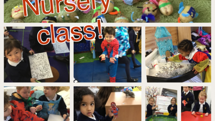 Nursery class have fun learning about 'Superheroes'!