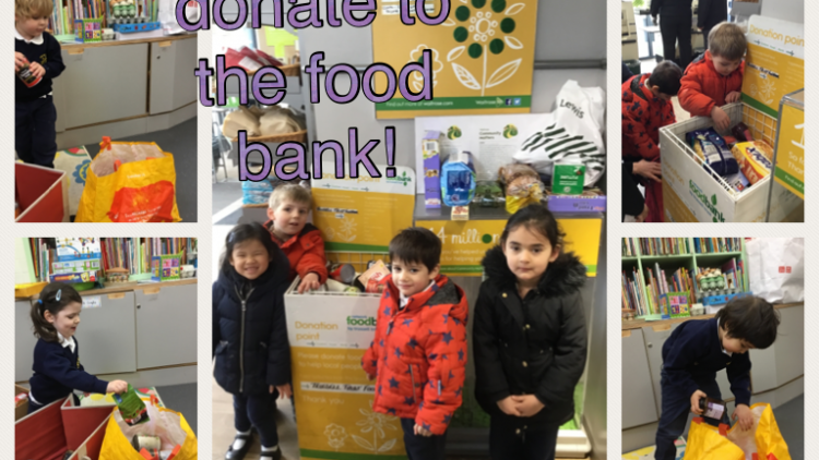 Nursery class donate to the food bank!