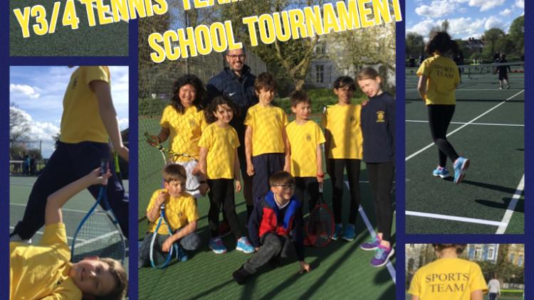 Y3/4 Tennis team represent at Camden schools tournament