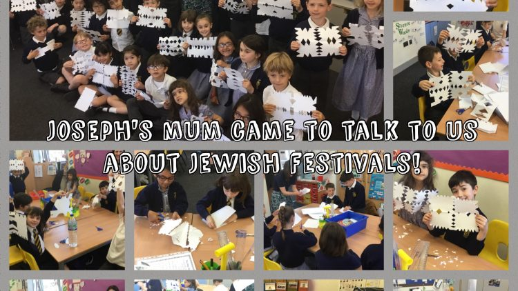 Joseph's mum came to talk to 2G about Jewish Festivals!