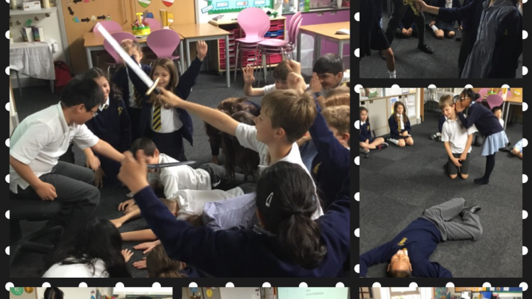 Things are getting dramatic in 5W! Last week we acted out the final scenes of Macbeth.