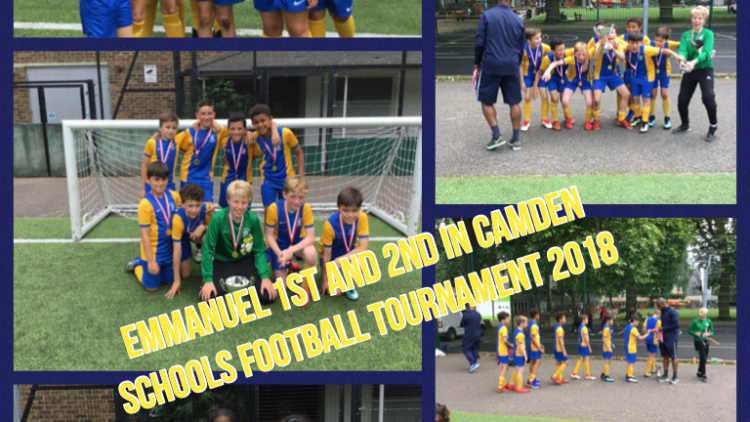 Emmanuel 1st and 2nd in Camden Football Tournament 2018