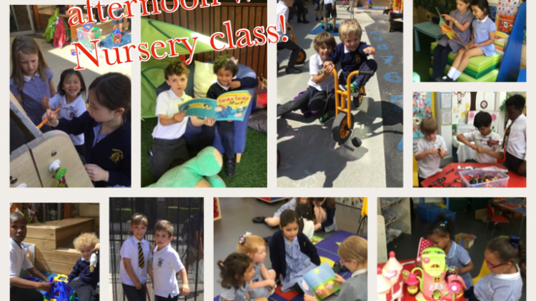 Year 3 spend the afternoon in Nursery class!