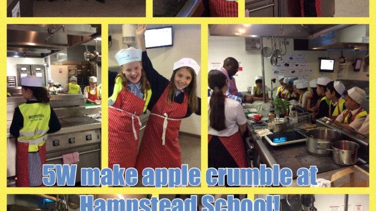 5W make apple crumble at Hampstead School!