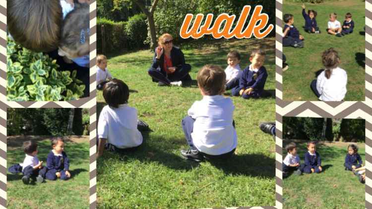 Nursery class develop listening skills on a sound walk!