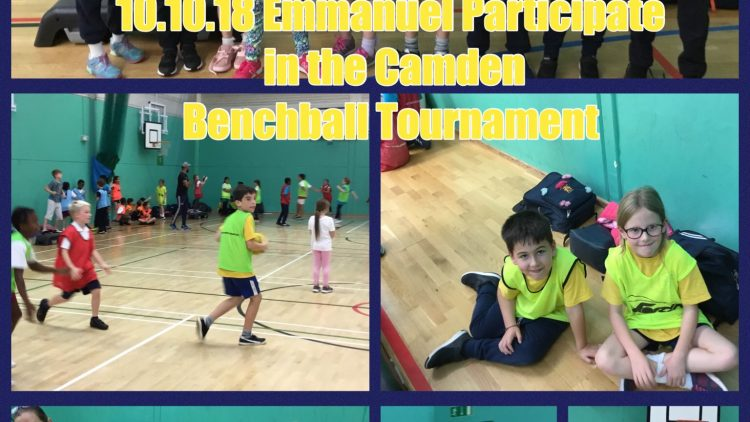 Emmanuel have fun at the Benchball tournament