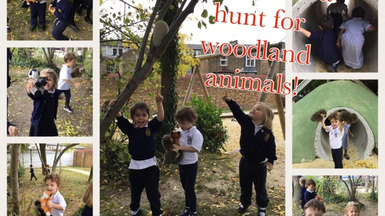 Nursery Class enjoy a woodland animal hunt!