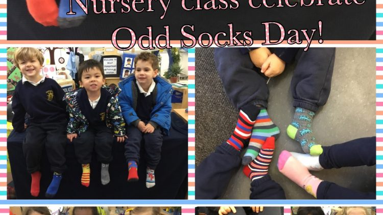 Nursery Class 'Choose Respect' & celebrate Odd Socks Day!