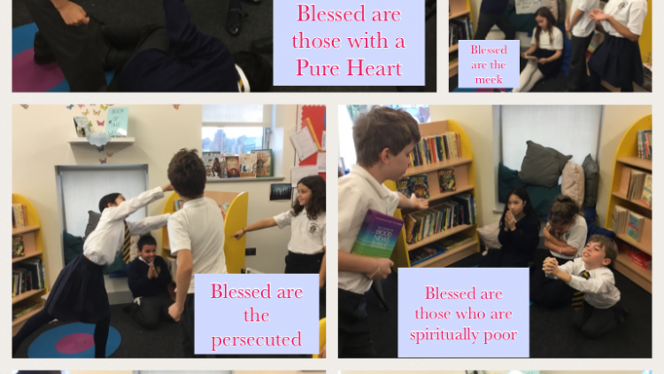 In 5W we acted out the different Beatitudes from the Gospel of Matthew
