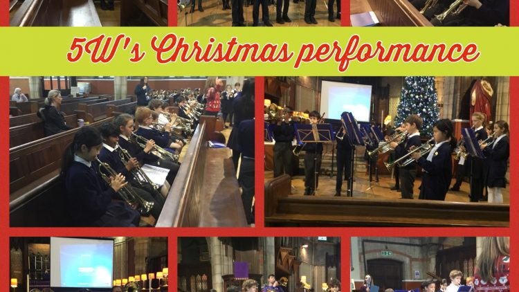 5W's Brass performance in the Church