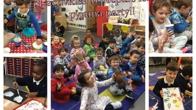 Nursery Class have a fun filled week of activities preparing for the pyjama party!