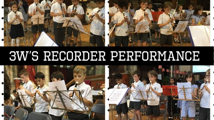 Year 3's recorder performance in the Church