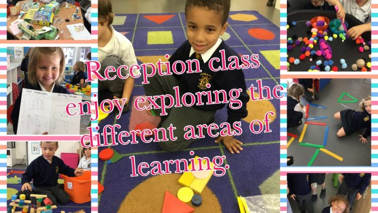 Reception class enjoy exploring the different areas of learning.