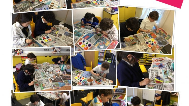 Year 4 painted Greek masks